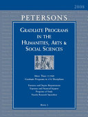 Graduate Programs in the Humanities  Arts and Social Sciences 2008