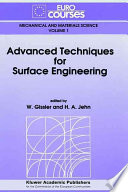 Advanced Techniques For Surface Engineering Book PDF