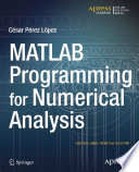 MATLAB Programming for Numerical Analysis Book