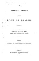 A Metrical Version of the Book of Psalms. By Thomas Turner