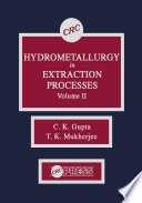 Hydrometallurgy in Extraction Processes Book