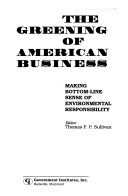 The Greening of American Business