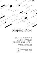Shaping Prose