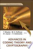 Advances In Coding Theory And Cryptography