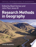 Research Methods in Geography, A Critical Introduction by Basil Gomez,John Paul Jones, III PDF