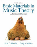 Basic Materials in Music Theory Book PDF