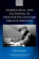 Pdf Diaries Real and Fictional in Twentieth-Century French Writing Telecharger