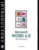 Microsoft Word 6 for Windows   New Perspectives Introductory