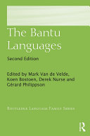 The Bantu Languages Pdf/ePub eBook
