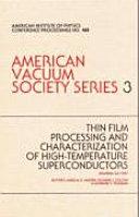 Thin Film Processing Hi Tc Superconductors AVS Series 3