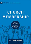 Church Membership Book Cover