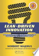 Lean Driven Innovation Book PDF