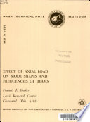 Effect of Axial Load on Mode Shapes and Frequencies of Beams