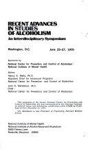 Recent Advances in Studies of Alcoholism ebook
