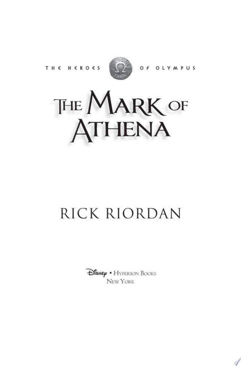 The Mark of Athena (The Heroes of Olympus, Book Three) image