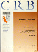 California Trade Policy Book PDF