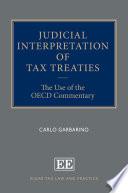 Judicial Interpretation of Tax Treaties