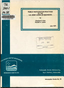 Public Participation Practices of the U S  Army Corps of Engineers Book