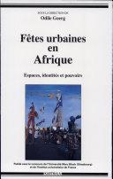 Pdf Fêtes urbaines en Afrique Telecharger