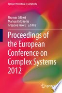 Proceedings of the European Conference on Complex Systems 2012 Book