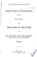 Agriculture of Pennsylvania Book