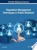Reputation Management Techniques In Public Relations Book