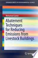 Abatement Techniques for Reducing Emissions from Livestock Buildings