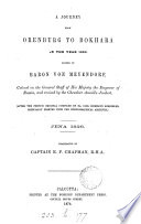 A Journey from Orenburg to Bokhara in the Year 1820 Book PDF