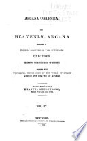 Arcana Cœlestia