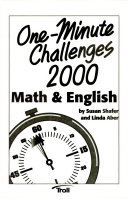 One Minute Challenges 2000  Math   English