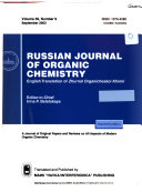 Russian Journal of Organic Chemistry Book