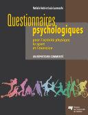 Pdf Questionnaires psychologiques pour l'activité physique, le sport et l'exercice Telecharger