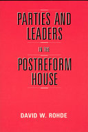 Parties and Leaders in the Postreform House Pdf/ePub eBook