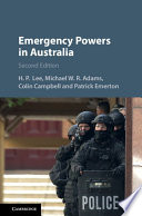 Emergency Powers in Australia Book