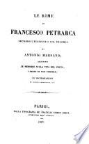 Le Rime di Francesco Petrarca