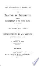 Law and Practice in Bankruptcy