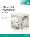 Abnormal Psychology  Global Edition Book