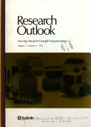 Research Outlook