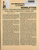 The Immigration and Ethnic History Newsletter Book