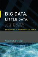 Pdf Big Data, Little Data, No Data Telecharger