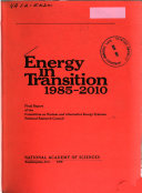 Energy in Transition  1985 2020