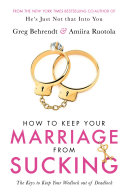 How To Keep Your Marriage From Sucking Pdf/ePub eBook