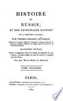 Histoire de Russie et des principales nations de l'empire Russe