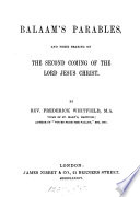 Balaam's parables [from Light and life in Christ].