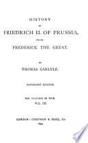 History of Friedrich II. of Prussia