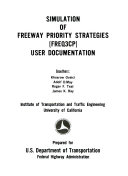 Simulation of Freeway Priority Strategies (FREQ3CP)