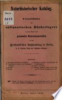 Naturhistorischer Katalog  : Verzeichniss des antiquarischen Bücherlagers in den Fächern der gesammten Naturwissenschaft von der Hirschwald'schen Buchhandlung in Berlin , Volume 1