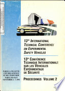 International Technical Conference on Experimental Safety Vehicles  Thirteenth  Proceedings  Volume II