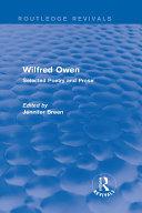 Wilfred Owen  Routledge Revivals