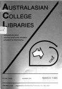 Australasian College Libraries Book